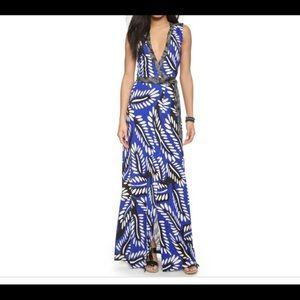 Diane Von Furstenberg print wrap silk maxi dress 2